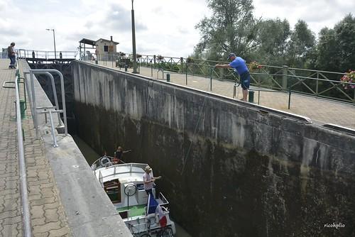 Pont Canal du Guétin -Double écluse -  Cuffy Gimouille (Cher)