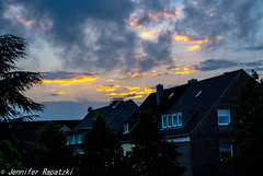 evening sun (Bernsteindrache7) Tags: city summer sky clouds landscape gold spring heaven outdoor sony himmel