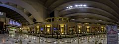 Luxor Hotel July 2016-Panoramic View of Front Desk (Juneau Biscuits (aka Len Yokoyama)) Tags: lasvegas nevada sincity luxor casino hotel gambling egyptian egypt sphinx resort titanic lobby