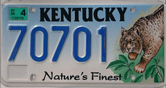 70701 (JohnathanBaker) Tags: kentucky license plate natures finest