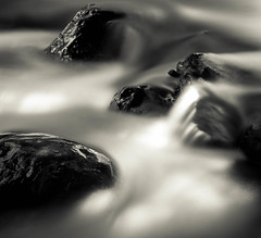 Rocks and river (N. John Soane) Tags: river rocks long exposure bw 10 stop nd filter