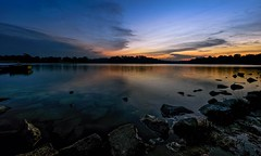 The Dance Between Darkness And Light (Anna Kwa) Tags: dusk twilight light water reflections darkness lowerpeircereservoir nature singapore annakwa nikon d750 afszoomnikkor1424mmf28ged my happiness unhappiness path life always live memories longexposure mehmetmuratildan night ludovicoeinaudi