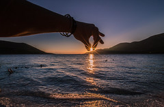 Don't let the sun go down (Vagelis Pikoulas) Tags: sun sunset sunburst canon 6d tokina 1628mm view sea beach summer 2016 august porto germeno greece europe travel holidays sky