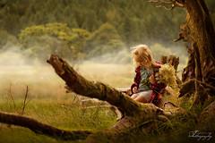 ... mist ... (Margarita K...) Tags: southwales south wales beautifulwales talybont reservoir mist fog child childhood fairytales portrait ngc girl landscape nikon d5200 mkphotography margaritakphotography