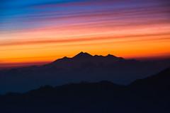Sunrise at Mount Batur (soni.jayantika) Tags: bali travel holiday outdoors islandlife natural light asia indonesia colors blues sunrise colorful beautiful mount batur volcano active rays beauty