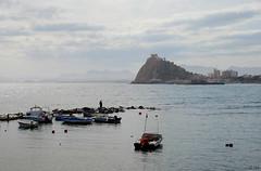 guilas-Murcia-DSC_0339-W (taocgs) Tags: paisaje landscape castillo castle puerto port mar sea guilas murcia espaa spain barcas boats fishing pescando pescador fisherman