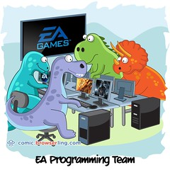 EA Games - Webcomic about web developers, programmers and browsers (browserling) Tags: cartoon comic webcomic joke browser browserling crossbrowsertesting webdeveloper webdesigner webprogrammer ea eagames electronicarts dinosaurs programming team masseffect webdev developer designer programmer geek nerd internet web cartoons comics webcomics jokes browsers webdevelopers webdesigners webprogrammers webdevelopment developers development designers programmers geeks