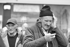 Hold onto your hat (irishman67) Tags: blackandwhite blackwhite streetphotography coclare ireland ennis