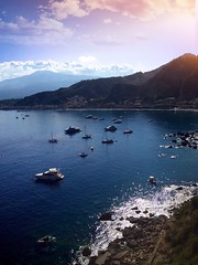 Parking at Taormina #beach #clouds #sky #italia #italy #taormina #perspective #water #summer #shadow #transport #landscape #nature (mr_rickygule) Tags: beach clouds sky italia italy taormina perspective water summer shadow transport landscape nature