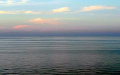 baltic sea barcode (kexi) Tags: barcode baltic balticsea sea water calm sky clouds blue evening jastrzebiagora polska poland samsung wb690 august 2016 horizon ripples horizontal stripes instantfave simple wallpaper