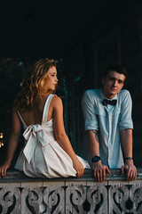 Ilya and Maria (elijahshadrin) Tags: love couple passion emotions composition canon summer summertime young youth people portrait hair gradient sun tattoo wood wooden russia vologda elijahshadrin bowtie classy dark tones