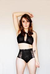 (Cin Corts) Tags: girl beautiful black lingerie canon explored model