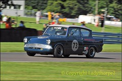 HSCC International Trophy Silverstone 22nd may 2016_0045 (ladythorpe2) Tags: blue 105e oulton park gold cup 2016 race 20 hscchrsr by box historic touring cars 2 73 robyn slater ford anglia