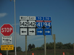 WI-142E-nearEend (paulthemapguy) Tags: wisconsin sign shield route highway 142 interstate 41 94 i94 i41