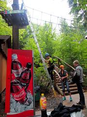 Starting. (topzdk) Tags: treeclimbing summer 2016 czechrepublic ski slope lanovy park