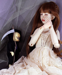 The time has come (bentwhisker) Tags: dolls bjd resin dollzone burton tomcat anthro cat kitty feline siamese ringdoll mona grimreaper halloween 3049abc