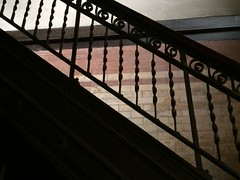 Monday, August 29, 2016 - Santa, is that you? (Alyssa1303) Tags: indoor staircase bannister