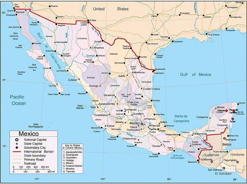 From flickr.com: Map of Mexico {MID-167845}