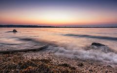 Endless summer (Stefan Sellmer) Tags: balticcoast balticsea beach hasselfelde kiel kielfjord stones water glow outdoor sunset waves schleswigholstein deutschland de