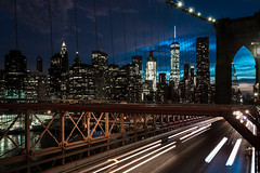 Brooklyn Bridge (Mr Moss) Tags: newyork brooklynbridge city skyline sunset usa manhatten