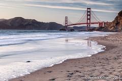 Beyond the Beach (Robert Krasker) Tags: california sanfrancisco bakerbeach sunset pacificocean goldengatebridge