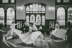 The Whirling Dervish (-=AE=-) Tags: istanbul turkey whirling dervish black white bw grain vsco film