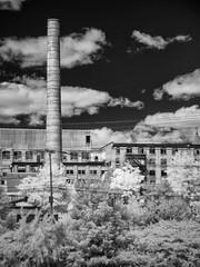P9240018 - Factory Chimney (Syed HJ) Tags: nashuanh nashua nh infrared 950nm ir olympusem5 olympus em5 fujian50mmf14 fujian50mm fujian 50mm cctvlens cctv