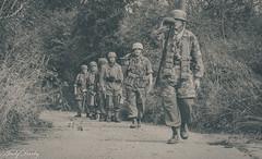 FJR5-11 (Andy Darby) Tags: bosworth bosworthfjr5 battlefield railway battlefieldrailway fjr5 fallschirmjager german reenactment uniform k98 mg42 ppsh41 marching war andydarby