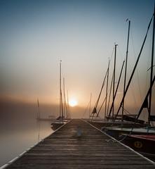 "Bootssteg ""Godewind"" (Dmmer See) (Doerk_72) Tags: see grauverlaufsfilter oneshot sonnenaufgang dmmersee nebel"