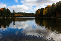 Clouds on the Lake (P-Laid | Alexis) Tags: park cloud lake canada tree nature canon ottawa gatineau parc philippe 60d