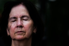 surrender (bysleightofhand1) Tags: lighting new york city shadow portrait woman face dark