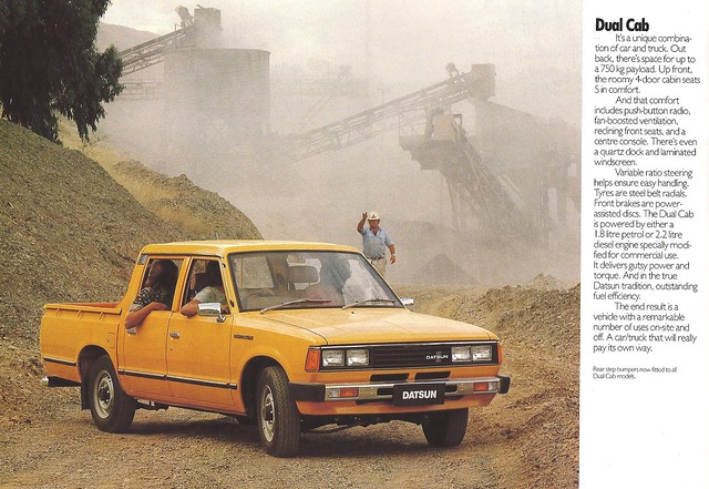 truck ads advertising 1982 pickup catalog brochure datsun