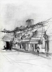Saraie Golshan1 (Behzad Bagheri Sketches) Tags: urban sketch bazaar isfahan