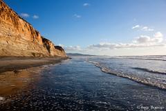 Waves at Torrey Pines (isaac.borrego) Tags: ocean california sunset beach water canon rebel evening torreypines sandiego cliffs pacificocean xsi