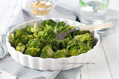 Dish of broccoli (Oxana Denezhkina) Tags: wood nature horizontal table healthy dish napkin fork nobody bowl broccoli vegetable delicious health mustard diet cooked gastronomy ingredient selectivefocus foodingredient