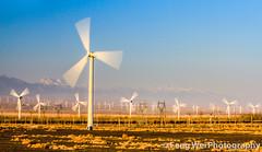 Wind Power (Feng Wei Photography) Tags: china travel mountain color beautiful beauty horizontal energy colorful asia industrial power wind outdoor clean xinjiang windturbine windfarm windpower tianshan dabancheng