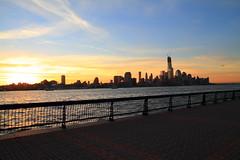 (pmarella) Tags: cold clouds sunrise reflections shadows pmarella hudsonriver hoboken lowermanhattan onthewaterfront riverviewpkproductions icoverthewaterfront myeyeshaveseenthis oneworldtradecenterakafreedomtower