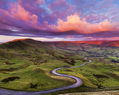 Edale road, Peak District. (John Finney) Tags: sunrise peakdistrict twistyroad pinkclouds edale highpeak highpeaksunrise