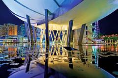 The ArtScience Museum update... (williamcho) Tags: reflection colors architecture modern singapore lotus ngc creative hotels nationalgeographic blending marinabay helixbridge singaporeflyer marinabaysands flickraward olétusfotos artsciencemuseum ©williamcho update2012