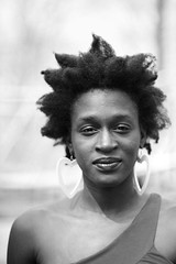 Natural Hair Project: Tamaratare (Tonia Mc Caskill-Johnson Photography) Tags: blackandwhite newyork natural tamara africanamerican naturalhair africanamericanwoman darkskin heartearrings braidout captureonesoftware closeupnatural naturalhairproject editedwebsiteimages braidoutonnaturalhair offoneshouldertop