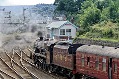 Leander (J Tys) Tags: smoke loco signals scarborough hdr steamtrain signalbox railtracks leander lms signalgantry thebestofhdr brcarrages