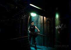 Colonial Marine (Daniel Rocal) Tags: man metal illustration photoshop soldier marine gun space alien digitalart rifle corridor aliens pasillo hombre avp soldado giger arma espacio xenomorph smartgun xenomorfo colonialmarine danielrocal
