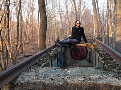 Living on Rails (Raccoon Photo) Tags: street wood old autumn trees sunset portrait people sun inspiration man tree art fall abandoned nature beautiful beauty leaves america train relax fun found concrete person photography graffiti photo cool woods ruins paint natural forrest getaway unique masonry creative ruin relaxing rail railway trains spot structure spray hidden rails americana rest balance spraypaint rum resting neat chemtrail hiding hobo chug chemtrails relics socialcommentary trainset relic eroded artisic inthewoods metroparks diamondintherough hiddentreasure hidingspot naturallybeautiful artisticinspiration buriedinthewoods