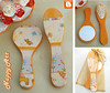 Conjunto Escova e Espelho Laranjinha (Nappy Art Prendas) Tags: espelho escova conjunto decoupage prenda laranjinha artedecorativa nappyart