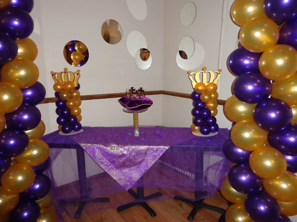 Purple And Gold Royal Themed Baby Shower Nemetasaufgegabeltinfo