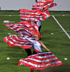flag line (tammye*) Tags: many performance wave flags winner performers redandwhite razorbacks tcf arkansasrazorbacks atthegame thechallengefactory tcfwinner