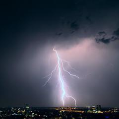 Thunderstorm 7 (Gaby.Bernstein) Tags: sky storm rain skyline night clouds buildings gaby thunderstorm lightning bernstein thunderbolt thunderbolts lightnings bernsteingaby gabybernstein