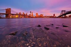 Sunrise from Brooklyn Bridge Park (chris lazzery) Tags: newyorkcity newyork skyline sunrise cityscape manhattan worldtradecenter brooklynbridge manhattanbridge brooklynbridgepark canonef14mmf28lii 5dmarkii oneworldtradecenter