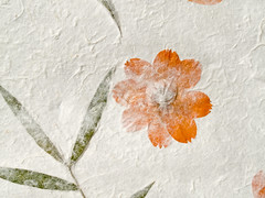 vintage paper background with dry flowers imprinted (Maxim Tupikov) Tags: desktop old wallpaper brown abstract flower color art texture yellow wall vintage paper design background stripes grunge border decoration style dry brush stained dirt spots cardboard burnt age edge page frame document layer backdrop carton aged framework damaged burned textured grungy pasteboard paperboard imprinted