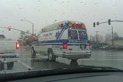 PRN Ambulance, Medic-30 (mercysoup) Tags: california rescue storm ford rain losangeles 911 led medical nurse emergency raining paramedic ems emt